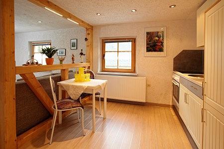ferienhaus seiffen - kleine fewo küche und wohnzimmer - Küche Wohnzimmer